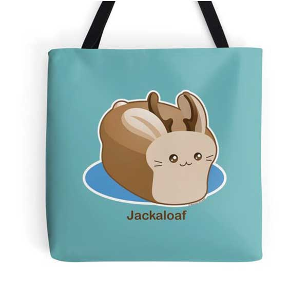 Jackaloaf Tote   on Redbubble  Starting at $16.00