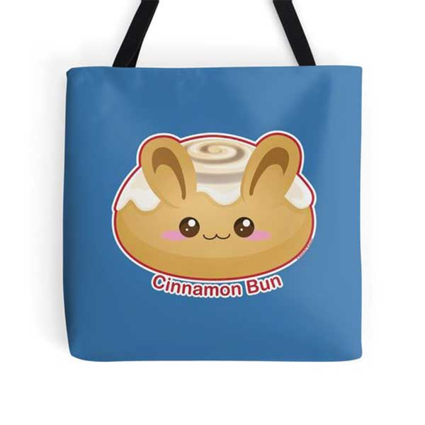 Cinnamon Bun Tote   on Redbubble  Starting at $16.00