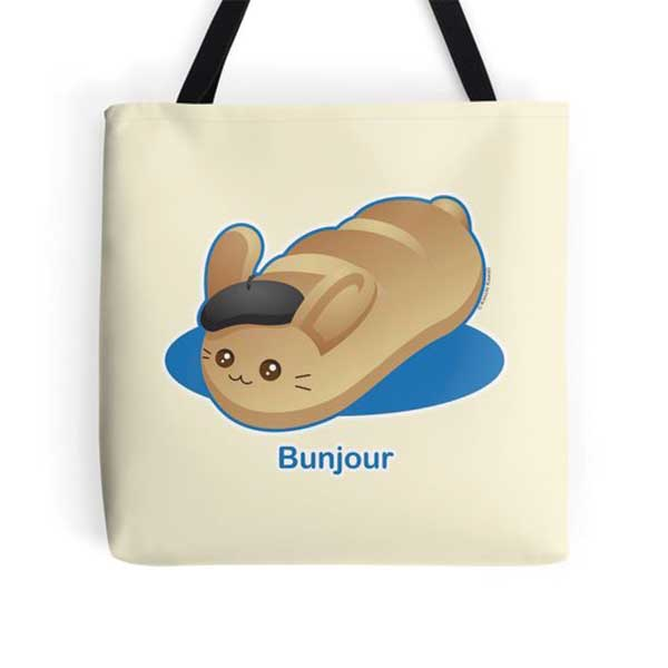 Bunjour Tote   on Redbubble  Starting at $16.00