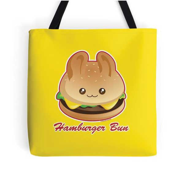Hamburger Bun Tote   on Redbubble  Starting at $16.00