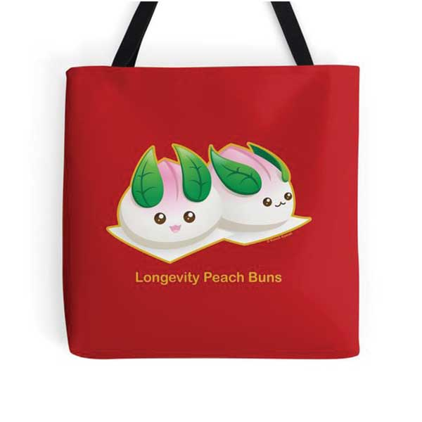 Peach Buns Tote   on Redbubble  Starting at $16.00