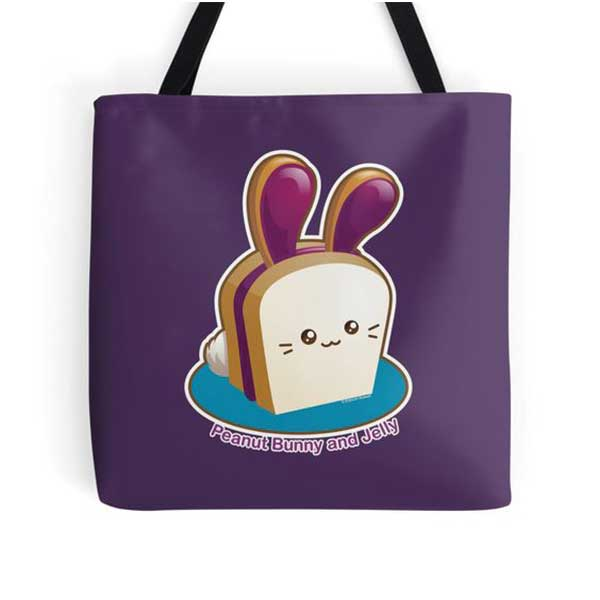 Peanut Bunny and Jelly Tote   on Redbubble  Starting at $16.00
