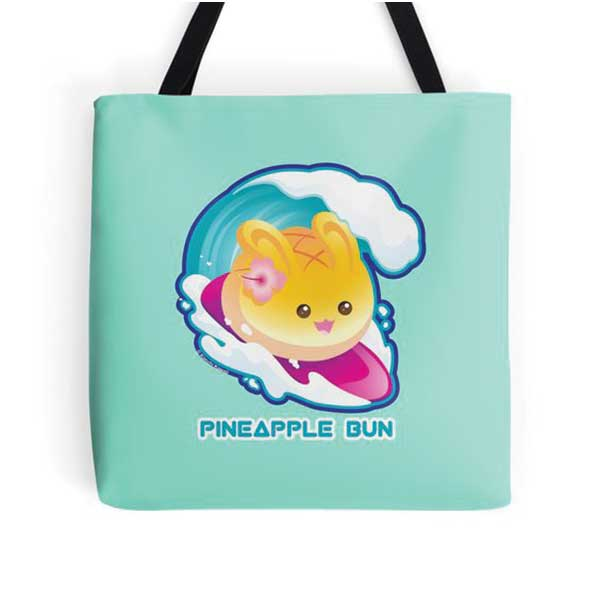 Pineapple Bun Tote   on Redbubble  Starting at $16.00