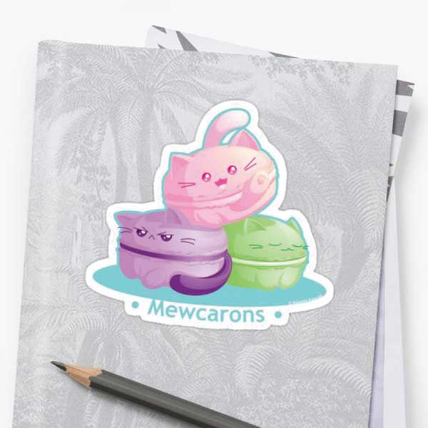 Mewcarons Stickers on Redbubble Starting at $2.50