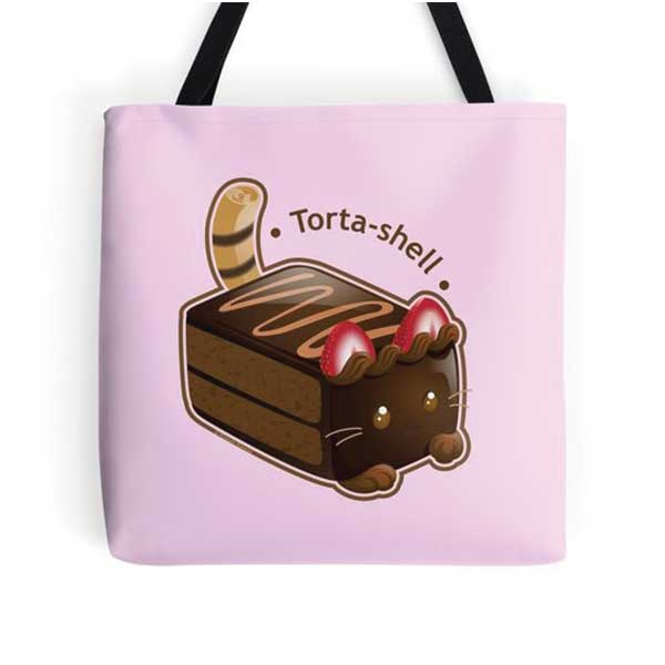 Torta-shell Totes on Redbubble Starting at $16.00