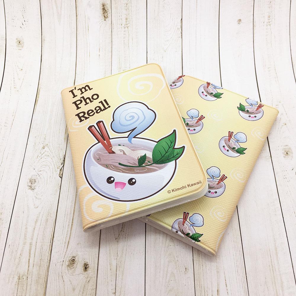 Cute Pho Real Vietnamese Soup Pun Card Wallet Kimchi Kawaii