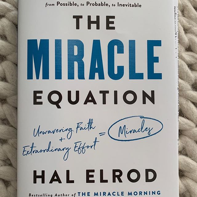 """SO PUMPED TO DIG INTO THIS BOOK! Just got my advanced copy of the new book, """"The Miracle Equation"""" written by @hal_elrod coming out April 16th!  What I've learned about Hal over the past 5 years is if he is going to do anything he is going to go all in. ....if he is going to get into a car accident, he will get into one he almost dies in ...if he is going to get cancer, he will get the rarest and most dangerous form ...if he is going to get married, he will marry the most genuine, supportive, beautiful (way out of his league) woman in the world #wifegoals ...if he is going to write a book, he is going to write one that changes the world.  Grab your copy April 16th!  Grateful to know you, laugh with you and support you, @hal_elrod!  #themiraclemorning #halelrod  #newbook #miracle #thismademyday"""
