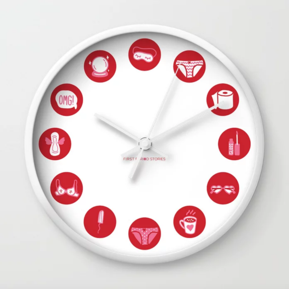 First Period Stories Wall Clock - $31.99