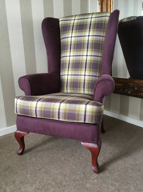 Two-Tone Wing Chair: £457 plus 5 metres of your chosen fabric.