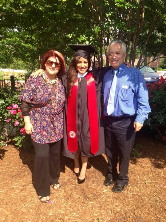My proud parents on graduation day at the University of Maryland. Six years late but I made it. B.A. in art history.