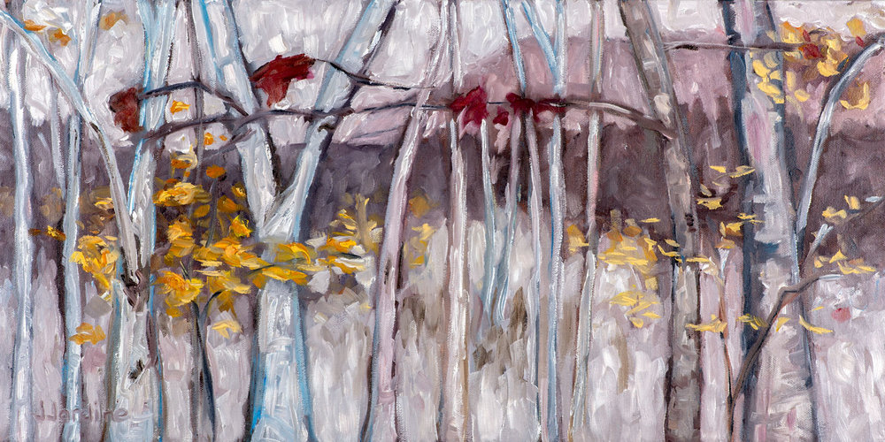 a Escarpment Winter Impressions 1  12x24 inches, oil on canvas (sides ~1.75 inches deep, painted a loose extension of the scene)  $395 CAD