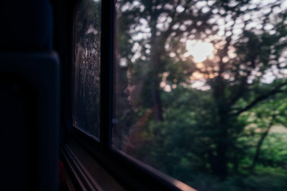 Riding through dusk