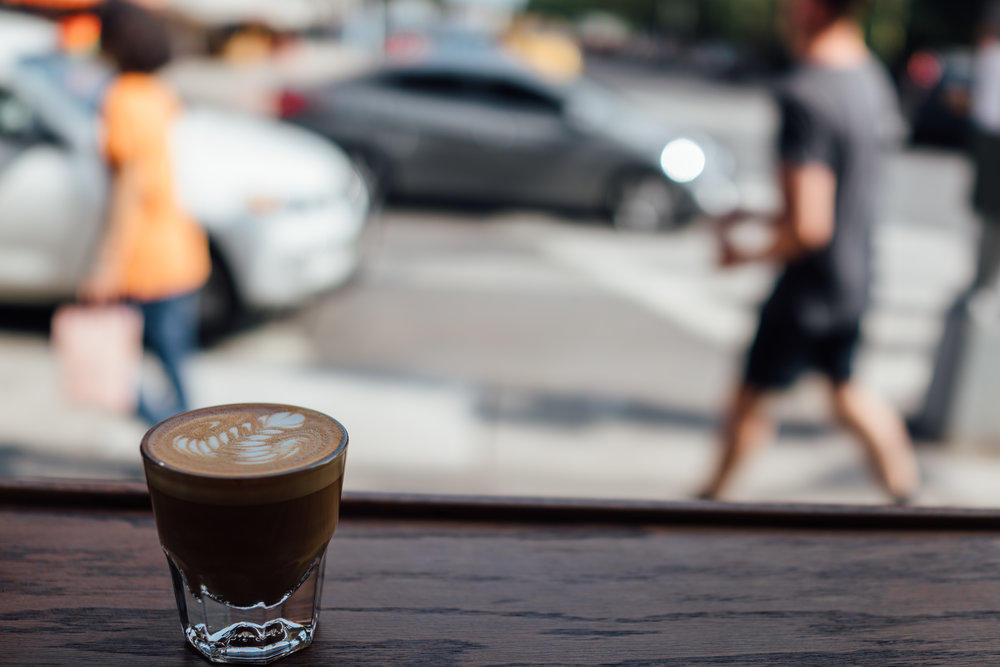 Cortado at Little Canal in Chinatown
