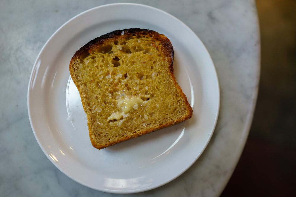 Josey Baker Sourdough with Butter and Sea Salt at The Mill in San Francisco