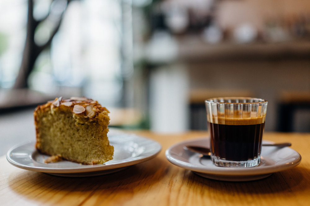 Olive Oil Cake and Espresso at Cicatriz, Mexico City