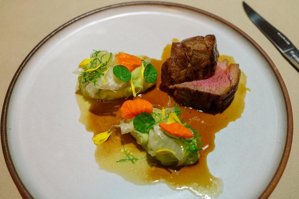 Lamb Rump, Edamame Bean, Fennel, German Chamomile