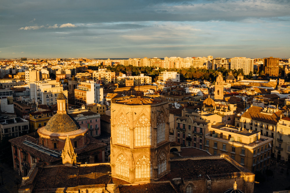Golden Hour from Valencia Cathedral, looking east