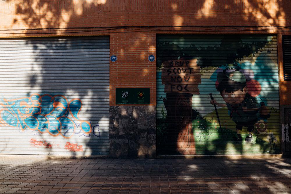 Near Manuel Granero Park in Valencia's Ruzafa neighborhood