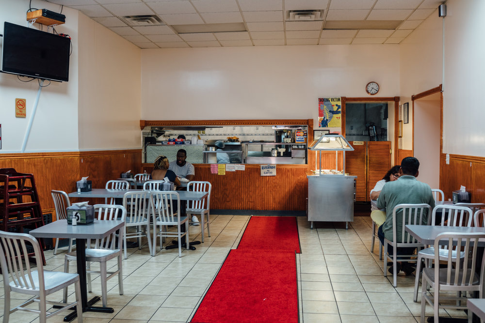 The cafeteria section within  El Tenampa Deli & Grocery