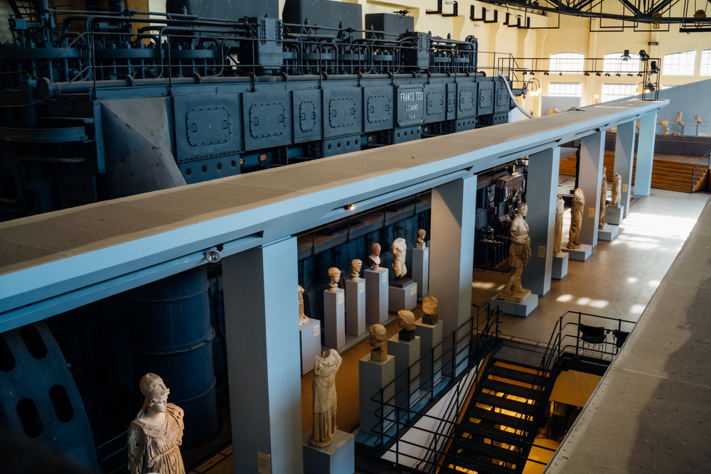 Centrale Montemartini  , built in 1912 is Rome's first thermoelectric center, now a museum that houses several statues from over 2,000 years back.
