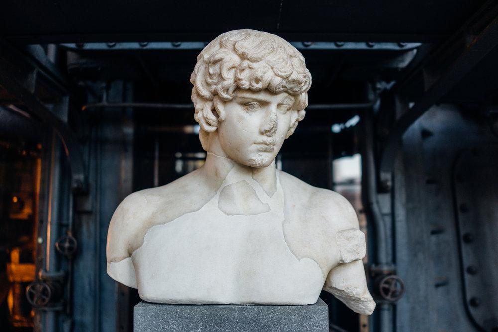 Statua di Antinoo  at Centrale Montemartini, from the Hadrianic period, 1st century AD