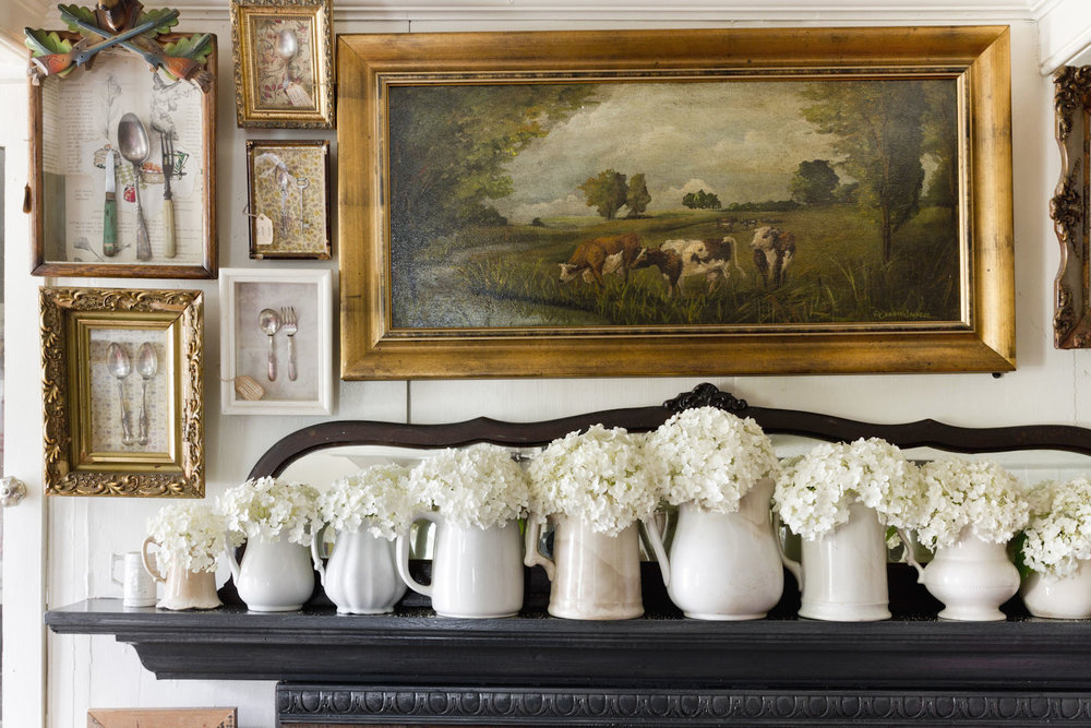 rustic-farmhouse-hydrangeas-white-pitchers-mantle-interior-photography.jpg