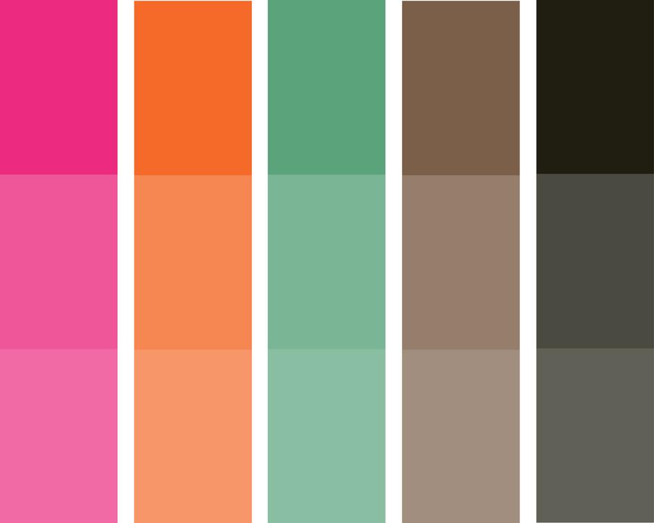 bikini bootcamp color palette