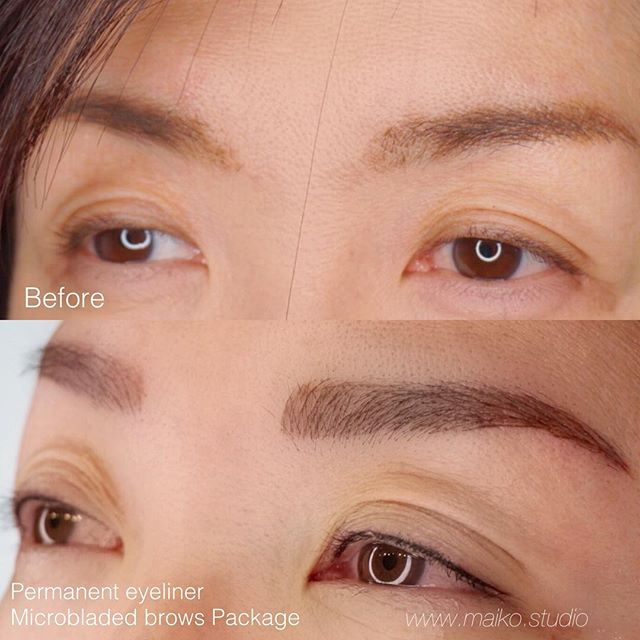▫️Natural Lashline enhancement eyeliner (with a micro wing 🕊) ➕ Microbladed brows 🔜🔜🔜💦SUMMER READY PACKAGE ✔️✔️✔️💦. #beforeandafter #maikostudio #microblading #maikostudio #micropigmentation #bam #summerready