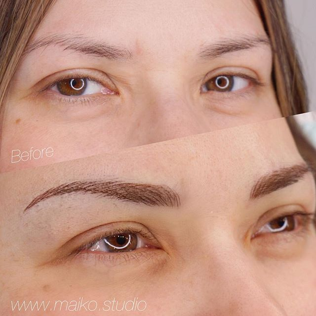 ▫️This busy mom no longer needs to worry about symmetry ✔️✔️✔️ #microblading #vancity #gastown
