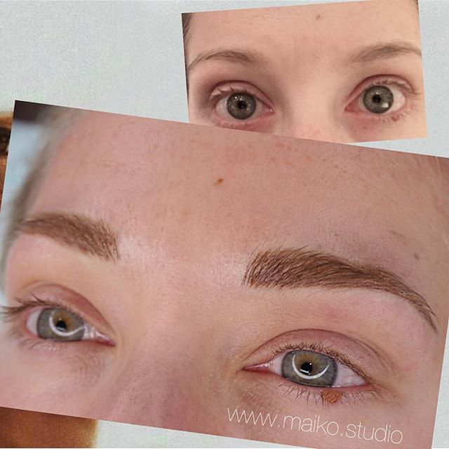 ▫️Brand new FLUFF ✔️ ▫️Brand new Arch ✔️✔️✔️ ▫️Added Length✔️✔️✔️✔️ #beforeandafter #transformation #waterproofmakeup #microblading
