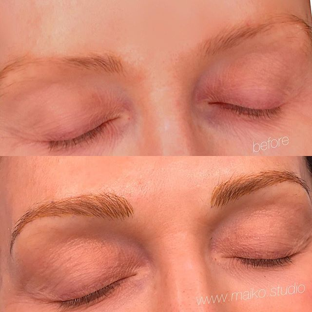 ◽️Gorgeous transformation on my gorgeous client ✔️ #microblading #fluffybrows #makeup #permanentcosmetics #vancouvertattoo #cosmetictattoo #redefine #gastown #artist #vancouverbeauty #vancouverbc