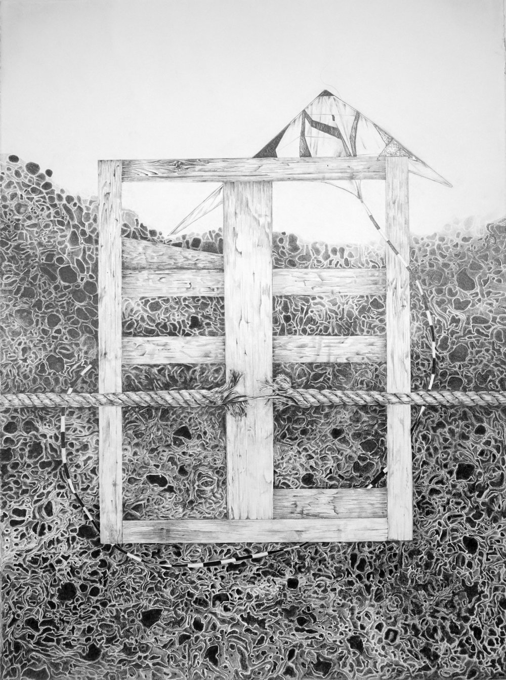 "Breadth (Bob): IPF  , graphite pencil on paper, 30"" x 22.5"", 2017"