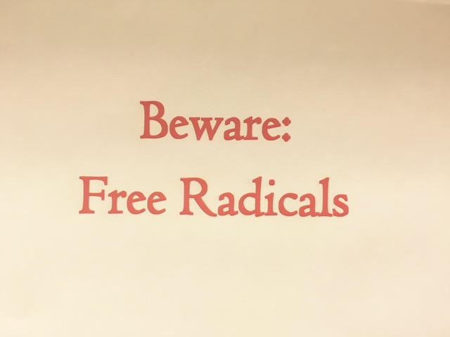 Free Radicals can cause premature aging and chronic disease.