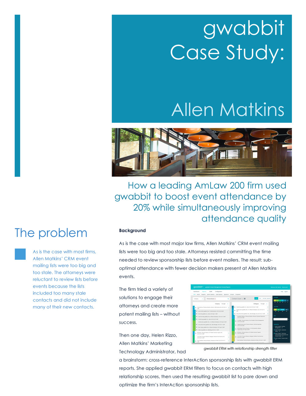 Download Allen Matkins' list management best practice case study.