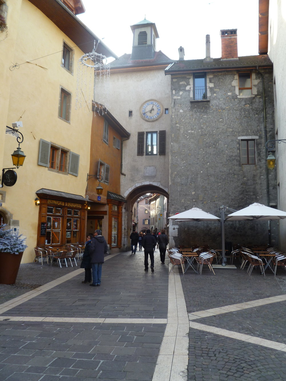 Another part of the old city with a clock tower.