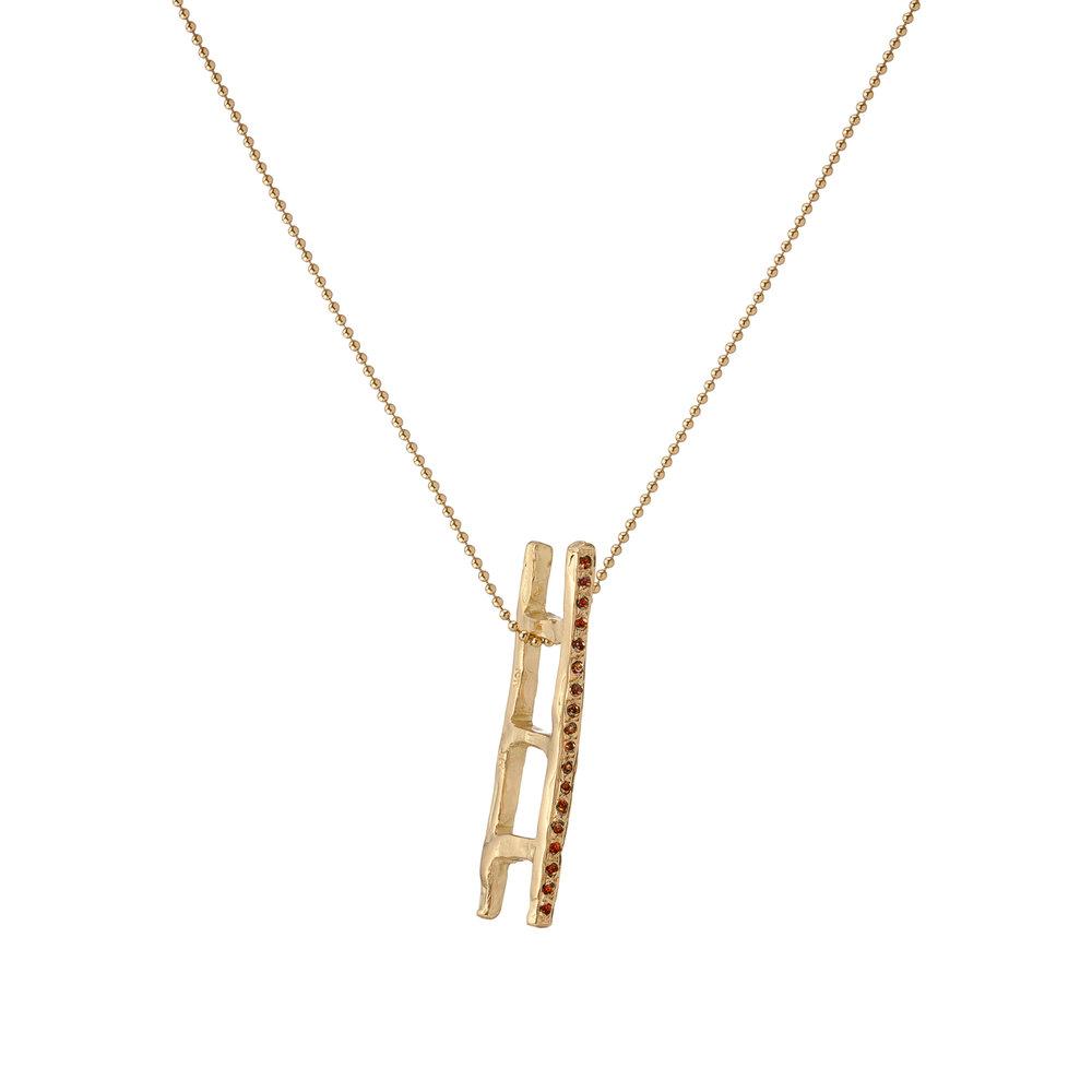 Ladder | 18k gold and cognac diamonds