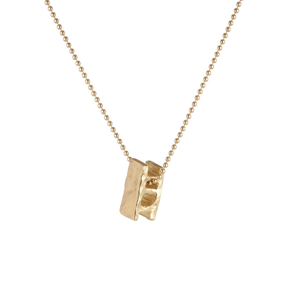 Cinder block | 18k gold