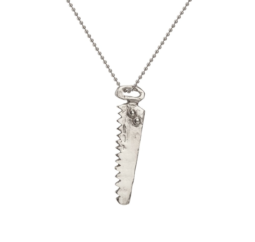 Saw | sterling silver
