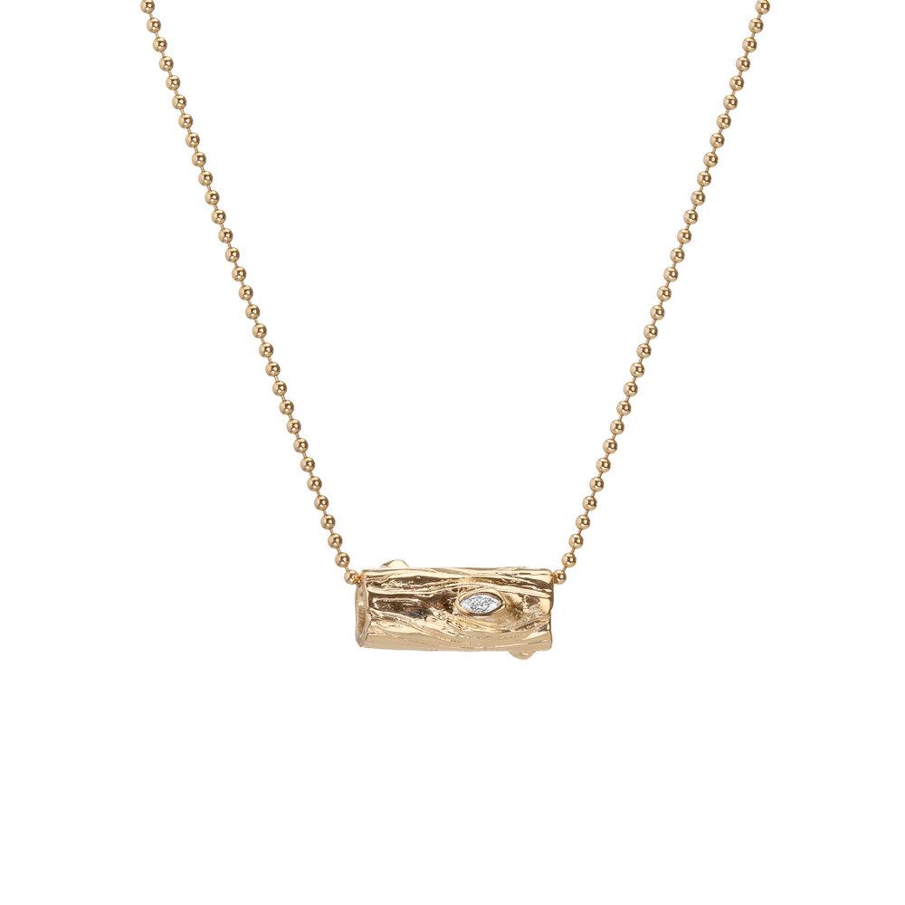 Log | 18k gold and white diamonds