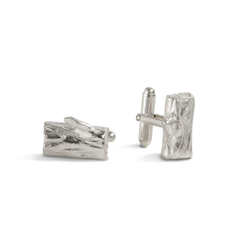 Log cufflinks | sterling silver