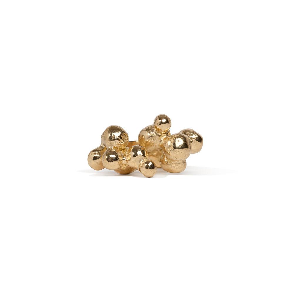 Bubble ring | 18k gold