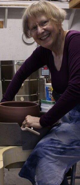 Jo Reid in the studio. February 2019.