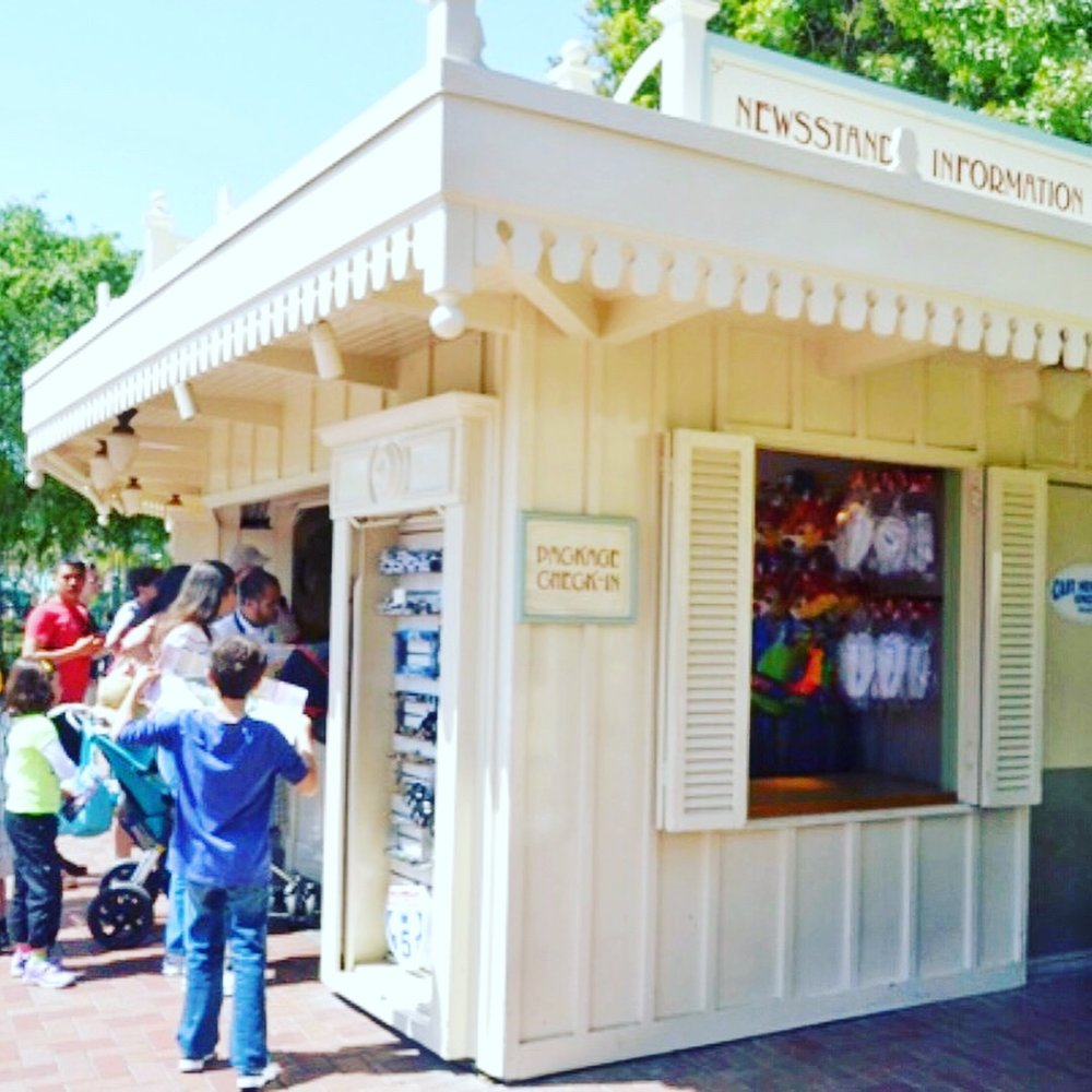 Disneyland Newstand & Package Check In