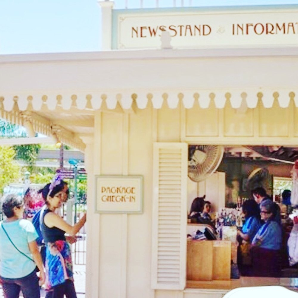 View of the Package Check In if you are coming from inside Disneyland.