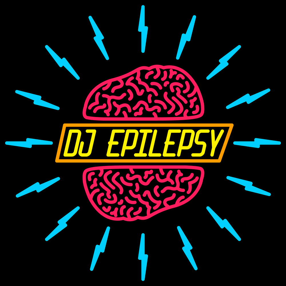 DJ Epilepsy - DJ Epilepsy is an electronic music producer duo from an undisclosed area of the world. Concept: Quite simply, the logo is representative of the disease epilepsy. The typography is all custom and the color palate reflects the loud & uncompromising sound of the group.