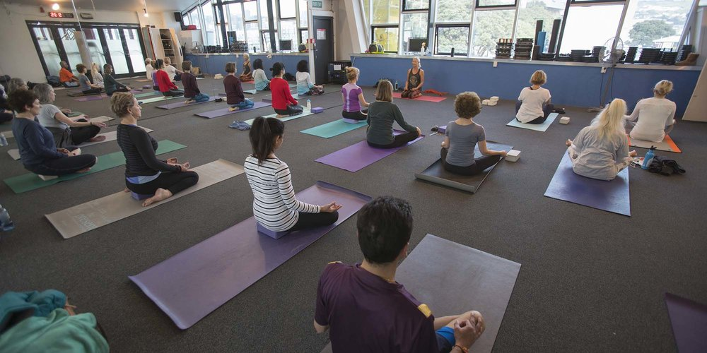 Yoga class at Freyberg Pool & Fitness Centre.