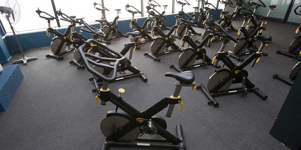 Spin bikes at WRAC.