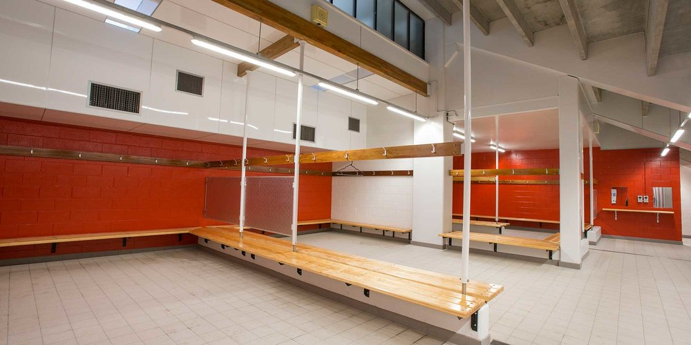 Changing room at WRAC.