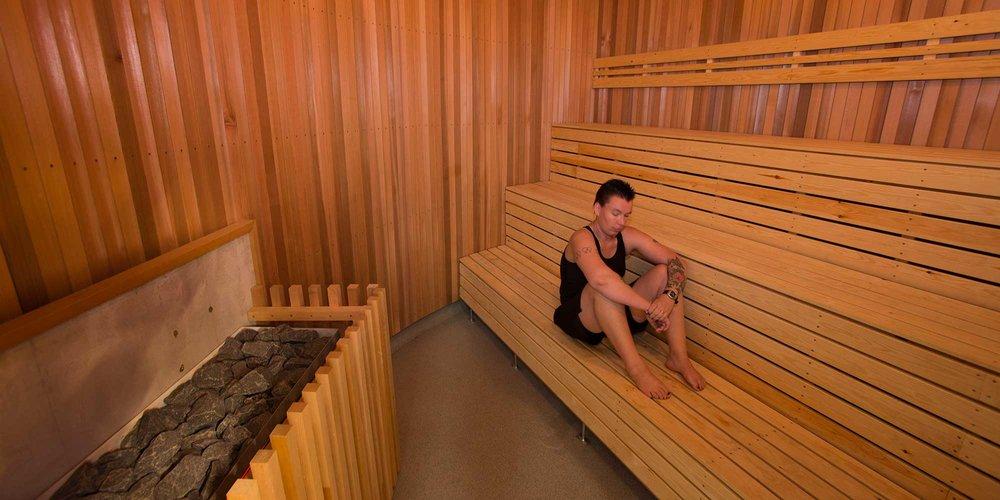 Sauna at WRAC.