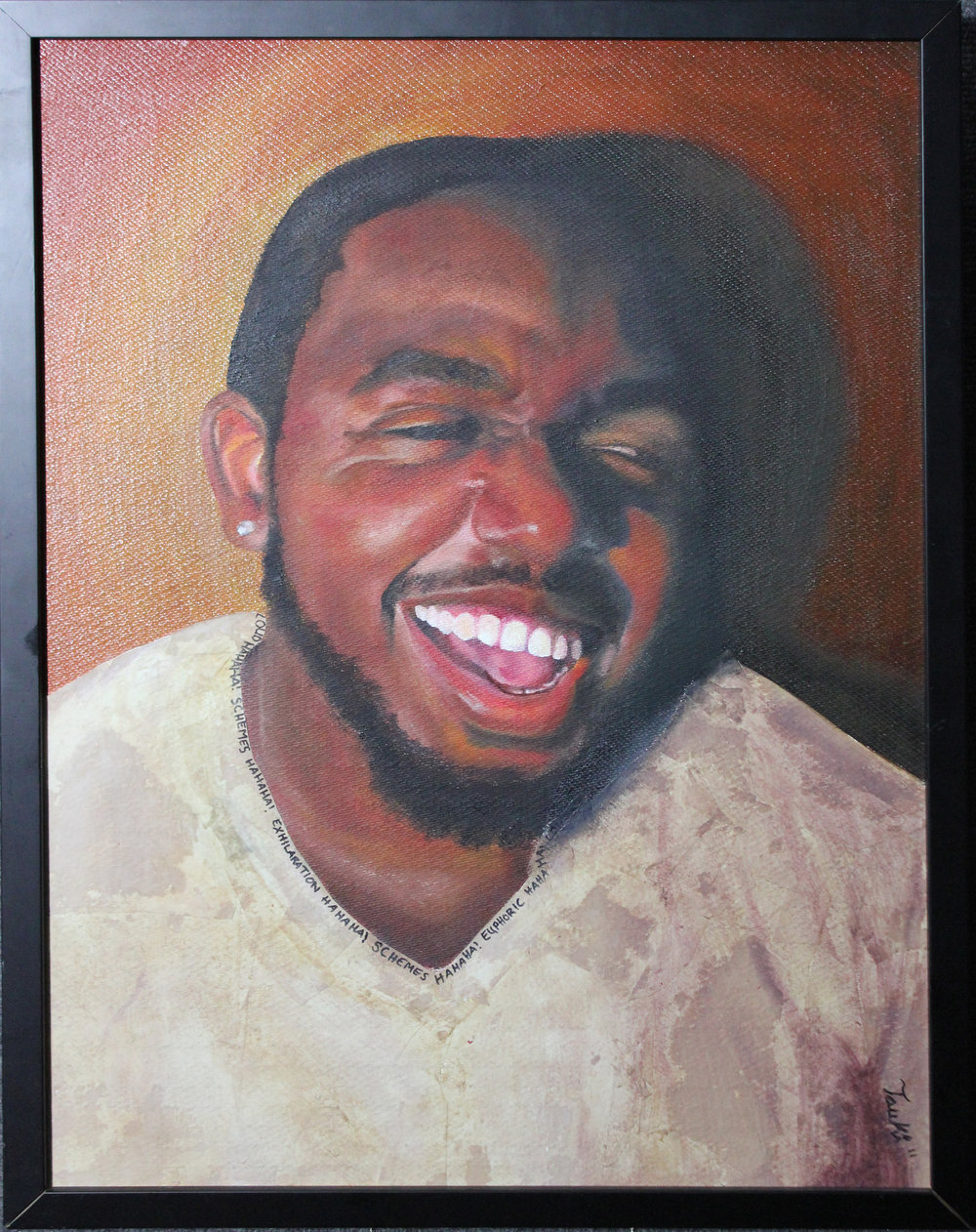 Nature of His Laugh, Mixed Media, 18x24, 2011.jpg